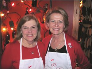 Mary Ellen Bernardo, left, and Candy Sturtz are the co-chairmen of the Christ Child Society's 19th annual celebrity wait night.