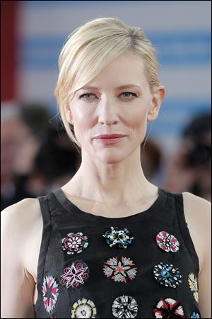 "Cate Blanchett, seen here, and Rooney Mara have been in the Cincinnati for more than a week to shoot ""Carol,"" a story of two women in 1950s New York who begin a romantic relationship."
