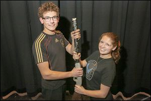 Ingolf-Christopher Facius and Tori Treadaway are starring as famous marksmen Frank Butler and Annie Oakley in Bowsher High School's musical production that begins March 28.