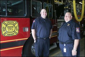 Incoming Rossford Assistant Fire Chief Ryan Stautzenbach, left, and Chief Josh Drouard say they're ready to lead.