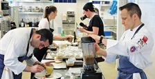 Chefs-Philip-Tessier-right-and-Eli-Kaimeh-work-in