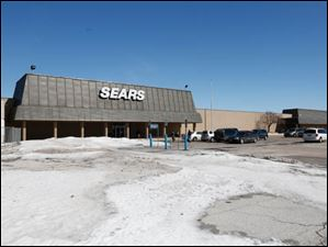 The Sears store, the last one in the former mall, plans to close in July.