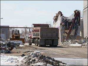 Demolition of the former Woodville Mall in Northwood.