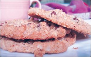 Oatmeal Strawberry Chocolate Chip Cookies.