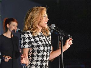 Singer Kylie Minogue performs during the Qantas Spirit Of Australia Party in January in Beverly Hills, California.