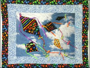 'Kite,' fiber art by Judy Paschalis, is one of the works in Prizm's annual juried show, Art-A-Fair. It opens Saturday in Fifth Third Center, One SeaGate, 550 N. Summit St.
