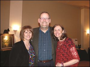 Co-chairmen of SewHope's L.E.A.P. fund-raiser are, from left, Gloria Buganski, Dr. David Mallory, and Dr. Anne Ruch, executive director.
