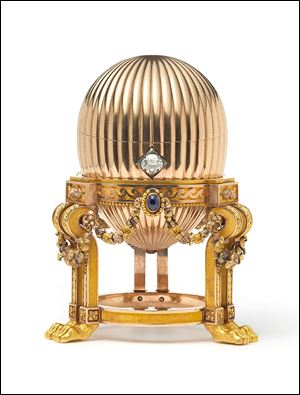 A rare Imperial Faberge Egg . The London antique dealer says the gold ornament bought by an American scrap-metal dealer has turned out to be a rare Faberge egg worth millions.