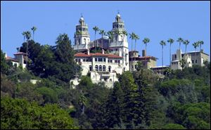 Hearst Castle, the legendary home of publishing tycoon William Randolph Hearst, sits on a state-owned parcel within the 82,000-acre Hearst Ranch at San Simeon, Calif.