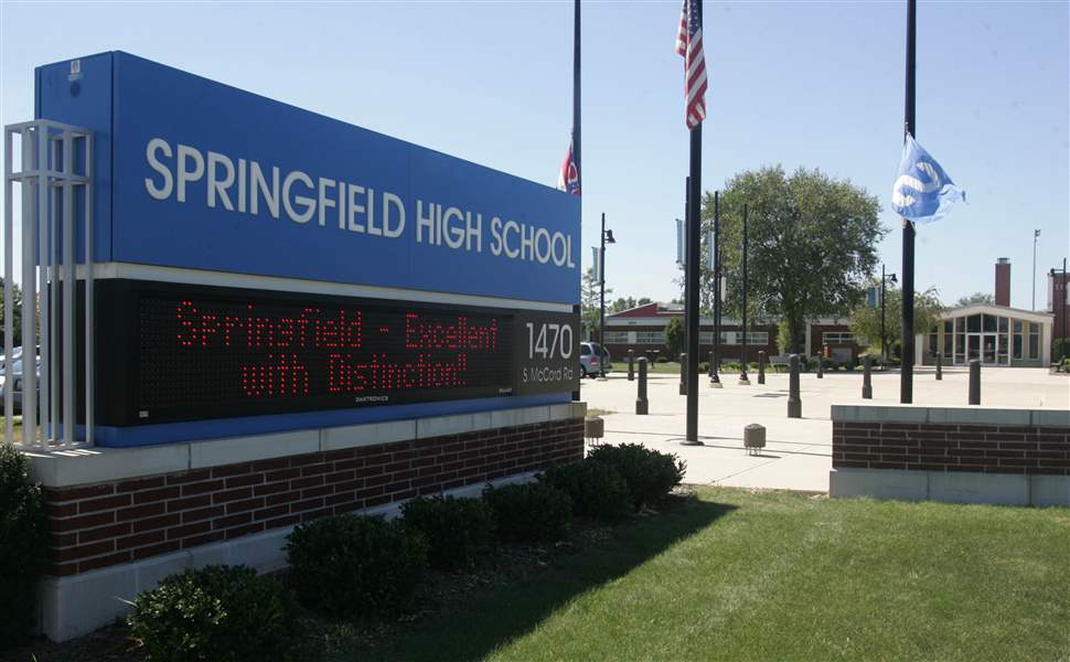 Springfield-high-school-sign