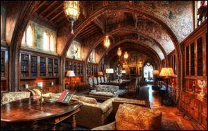 William Randolph Hearst conducted business in the Gothic Study of his mansion.