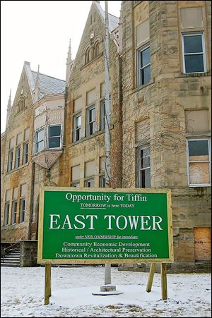 The old East Junior High School building stands at East Market and Jefferson streets in Tiffin. The building's owner, East Tower LLC, wants officials to consider the building as the site of a proposed justice center.
