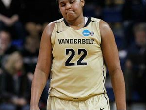 Vandy's Marqu'es Webb (22), game-high scorer with 18 points, as her team heads to defeat against Arizona State.