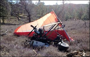 A crash site where Federal authorities said an ultralight aircraft carrying about 250 pounds of marijuana crashed in the mountains east of San Diego.