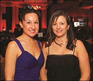 JULIE ROBERTS, left, and Dr. LAURA MURPHY at the Heart Ball for the American Heart Association.