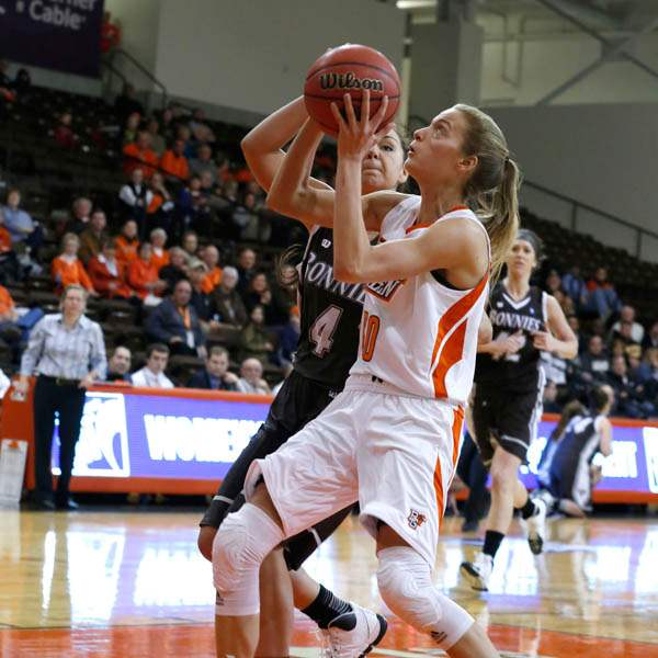 BGSU-s-Miriam-Justinger-is-guarded-by-St-Bonavent