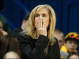 ASU coach Charli Turner Thorne during the game.