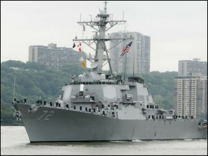 A sailor was fatally shot aboard the USS Mahan at Naval Station Norfolk late Monday and security forces killed a male civilian suspect, base spokesman Terri Davis said.