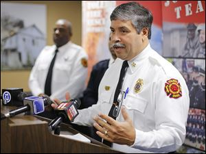 Chief Luis Santiago said during a news conference Tuesday that people recruited now for the Toledo Fire and Rescue Department could be in a fire class by 2015, but a start date has not been set.