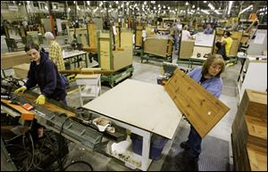 In 2007 Sauder Woodworking Co. began manufacturing frames and shelves for kitchen cabinetry sold by Ikea.
