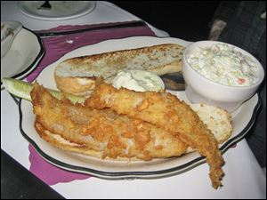 The fish sandwich at BJ's Hide-A-Way in Oregon.