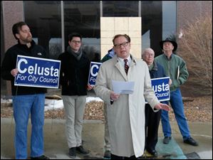 Joe Celusta announces his candidacy for Toledo City Council District 2.
