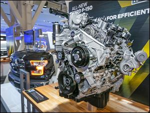 Designed and engineered for the F-150, the 2.7-li­ter EcoBoost V-6 will be the first truck engine to offer start-stop technology to improve fuel efficiency.