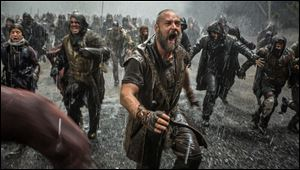 Russell Crowe battles to protect his family.