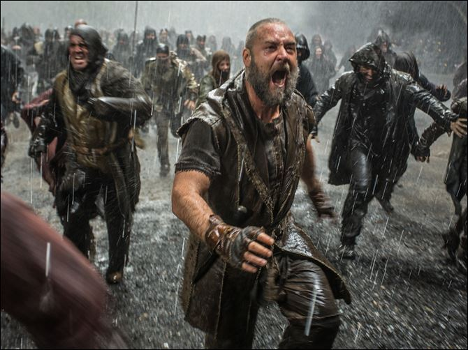 Film Review Noah Russell Crowe battles to protect his family.