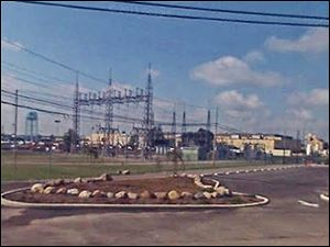 The electrical grid outside General Dynamics Land Systems plant in Lima.