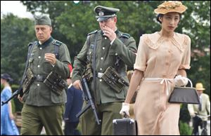 Grace Srinivasan, right, plays the title role in 'Enemy of the Reich: The Noor Inayat Khan Story.'