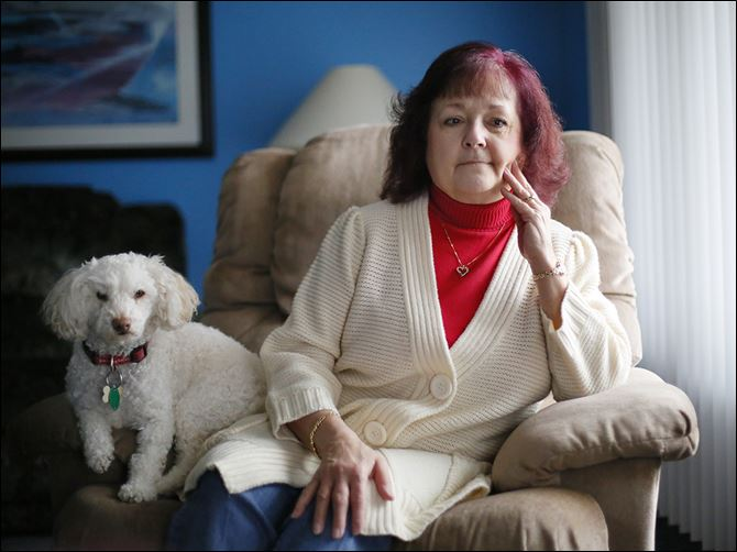 Mary Gambill Mary Gambill, 65, with her dog Brewster, said she suspects that her age is frightening off employers. 'I'm not feeble, I don't have gray hair. But they look at me like I can't handle the job.'