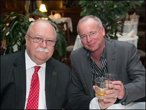 Dave Cameron and Patrick Andrews at The Toledo Club Scotch Night.