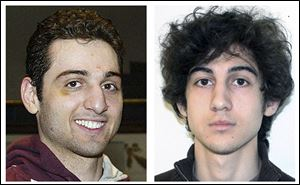 Brothers Tamerlan, left, and Dzhokhar Tsarnaev.