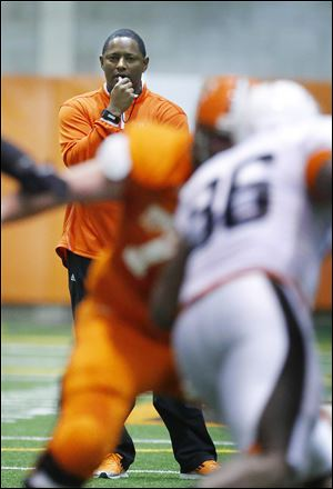 Bowling Green head coach Dino Babers had his offense run 129 plays during the 75-minute intrasquad spring scrimmage.