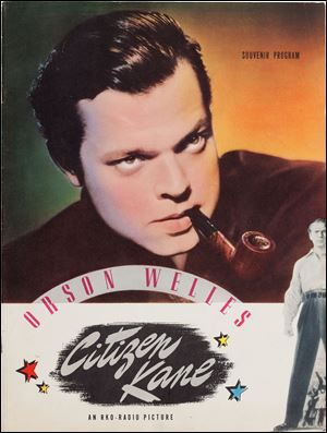 Orson Welles' personal copy of a souvenir program from his classic 1941 film, 'Citizen Kane,' is among the legendary actor, director, and scriptwriter's items that will be auctioned in New York City on April 26.