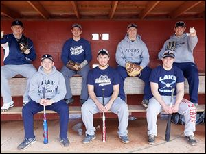 Lake's baseball team returns a lot of experience in players, from left, Jayce Vancena, Cody Witt, Connor Bowen, Anthony Pratt, Nick Walsh, Joel Densic, and Brad Ackerman. Vancena will play at the University of Michigan.
