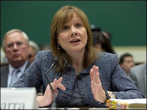 General Motors CEO Mary Barra testifies before the House Energy and Commerce subcommittee on Oversight and Investigation in Washington.