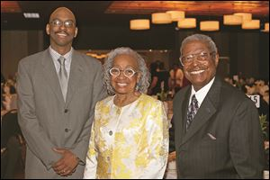 Frederick Douglass Community Center honorees included Ward Barnett of Toledo Public Schools, left, Theresa Gabriel, member of Toledo City Council, center, and Eddie Cole.