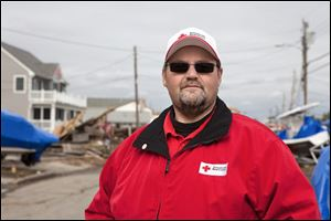 Todd James, executive director of the American Red Cross of Hancock, Seneca, and Wyandot counties, was in Atlantic City, N.J., helping with the emergency response to Hurricane Sandy in 2012.