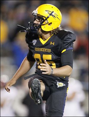 Toledo kicker Jeremiah Detmer was a Lou Groza Award semifinalist in 2013. He has made 36 of his last 37 field goal tries.