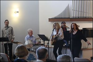 The New Love Express in performance at Unity Church.  Unity of Toledo,