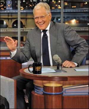 Host David Letterman appears at a taping of his shows
