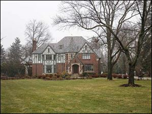 The house at 4540 Brookside, Ottawa Hills, Ohio.
