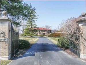 The driveway into the house at 28589 East River Road in Perrysburg.
