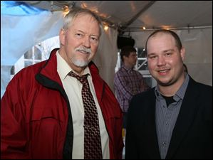Lucas County Cite Program Manager Charlie Johnson, left, and Black Swamp Conservancy Executive Director Rob Krain attended the 3rd Annual Blue Grass & Green Acres Celebration at the Carranor Hunt & Polo Club.