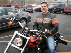Michael Bahner, of Sylvania, rode his Harley-Davidson Dyna Wide Glide to the Harley-Davidson Spring Fling at the Toledo Harley-Davidson.
