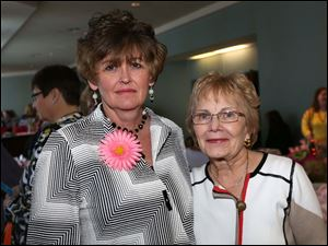 Lynda Gilbert, of Perrysburg, left, and Dorothy Bonser, of South Toledo, attended the Toledo Symphony Rite of Spring at the the Radisson at UTMC in South Toledo.