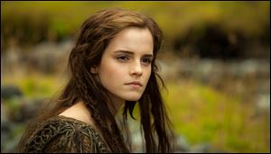 "This image released by Paramount Pictures shows Emma Watson in a scene from the film, ""Noah."""