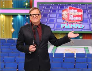 "Drew Carey, host of ""The Price is Right,"" on the set in Los Angeles."